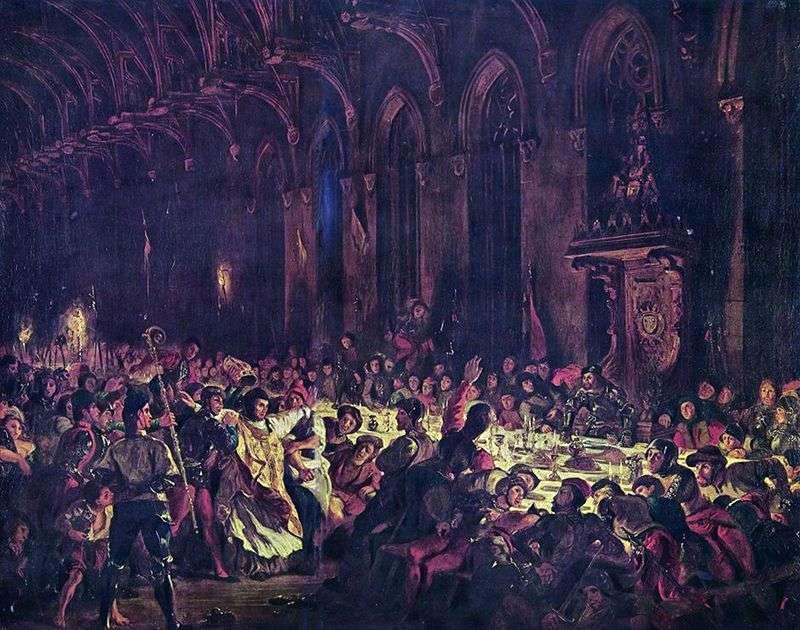 Morderstwo arcybiskupa Liege   Eugene Delacroix