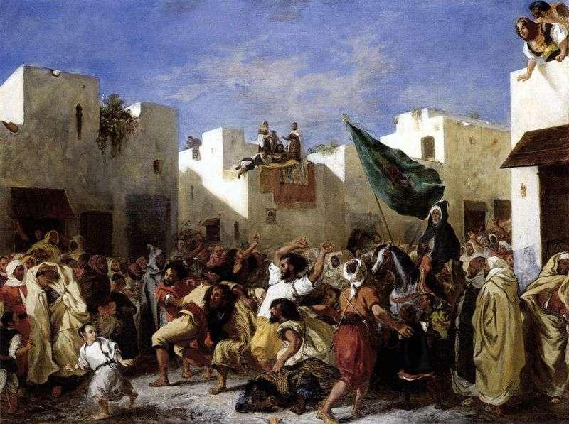 Fanatycy w Tangerze   Eugene Delacroix