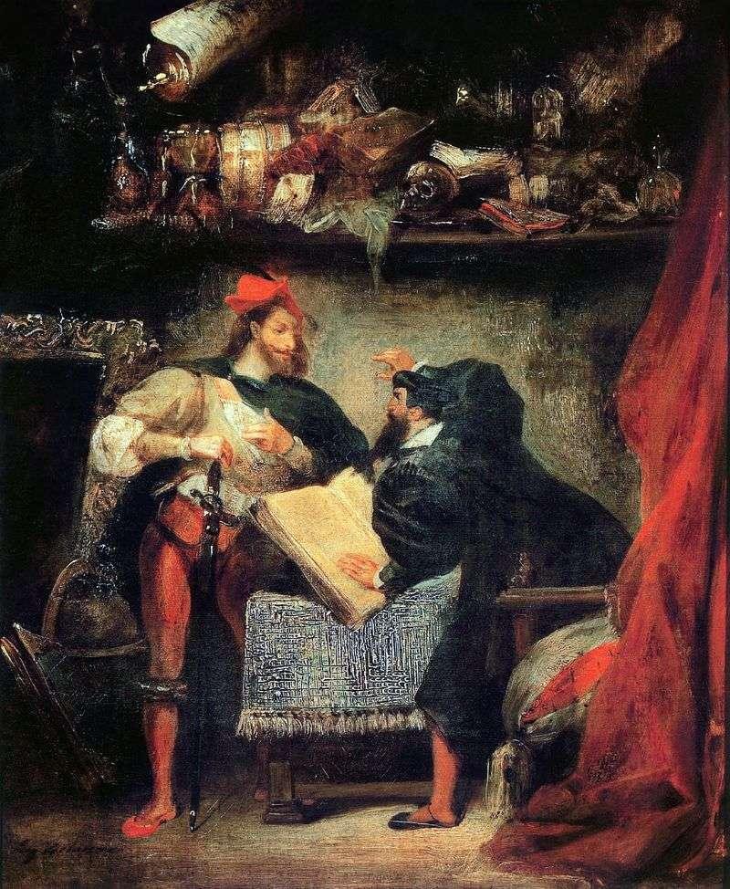 Faust i Mefistofeles   Eugene Delacroix