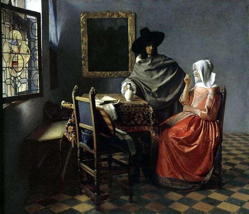 Kieliszek wina   Jan Vermeer