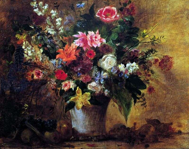 Kwiaty i owoce   Eugene Delacroix