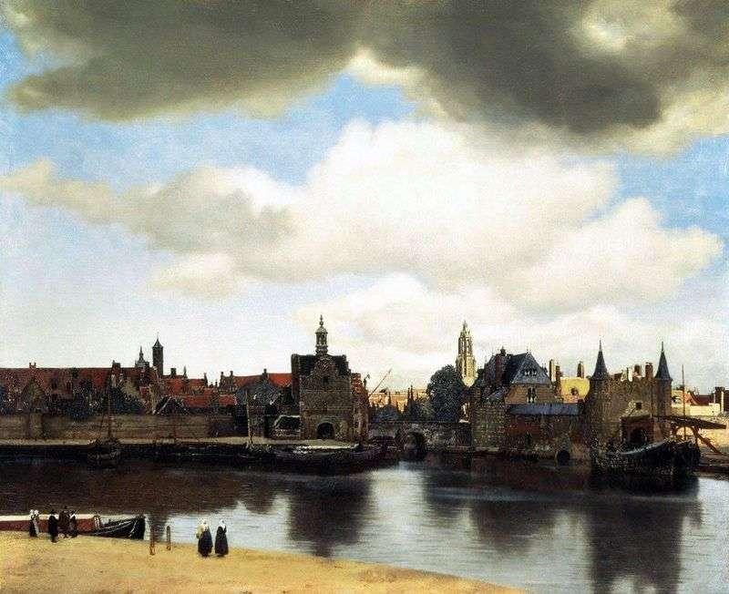 Widok na miasto Delft   Jan Vermeer
