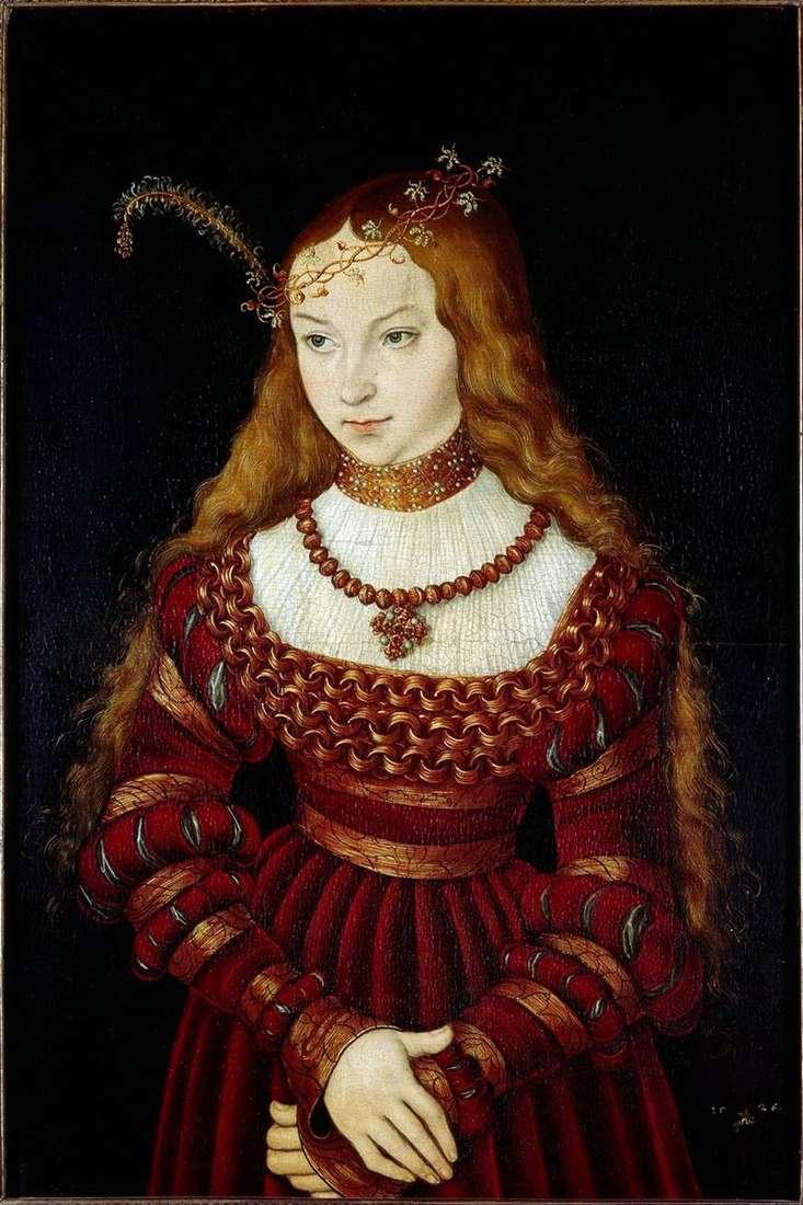 Princess Sibilla Klevskaya   Lukas Cranach