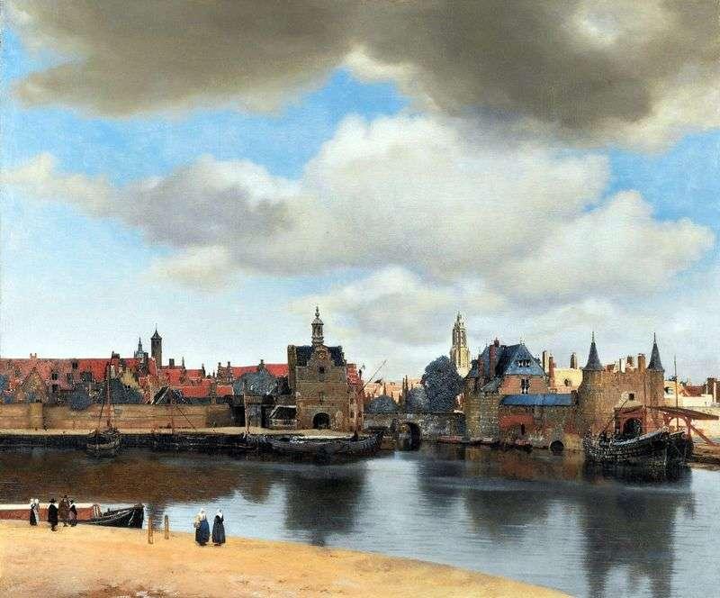 Widok z Delft   Jan Vermeer