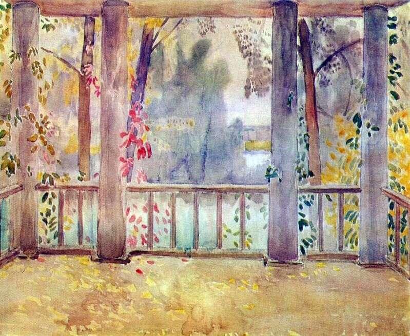 Na balkonie w Tarusie   Wiktor Borisow Musatow