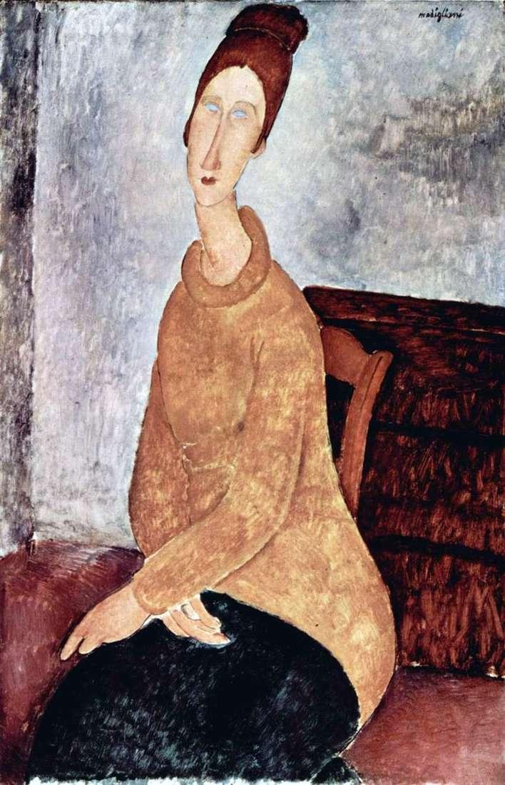 Jeanne Hebuterne w żółtym swetrze   Amedeo Modigliani