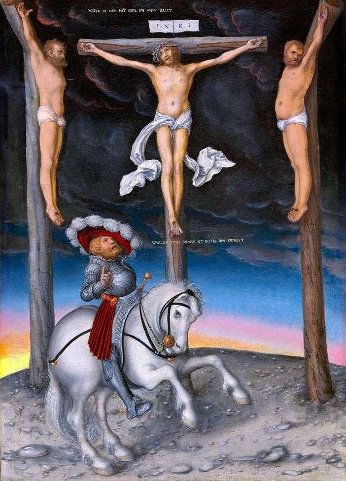 Krucyfiks z przemienionym centurionem   Lukas Cranach