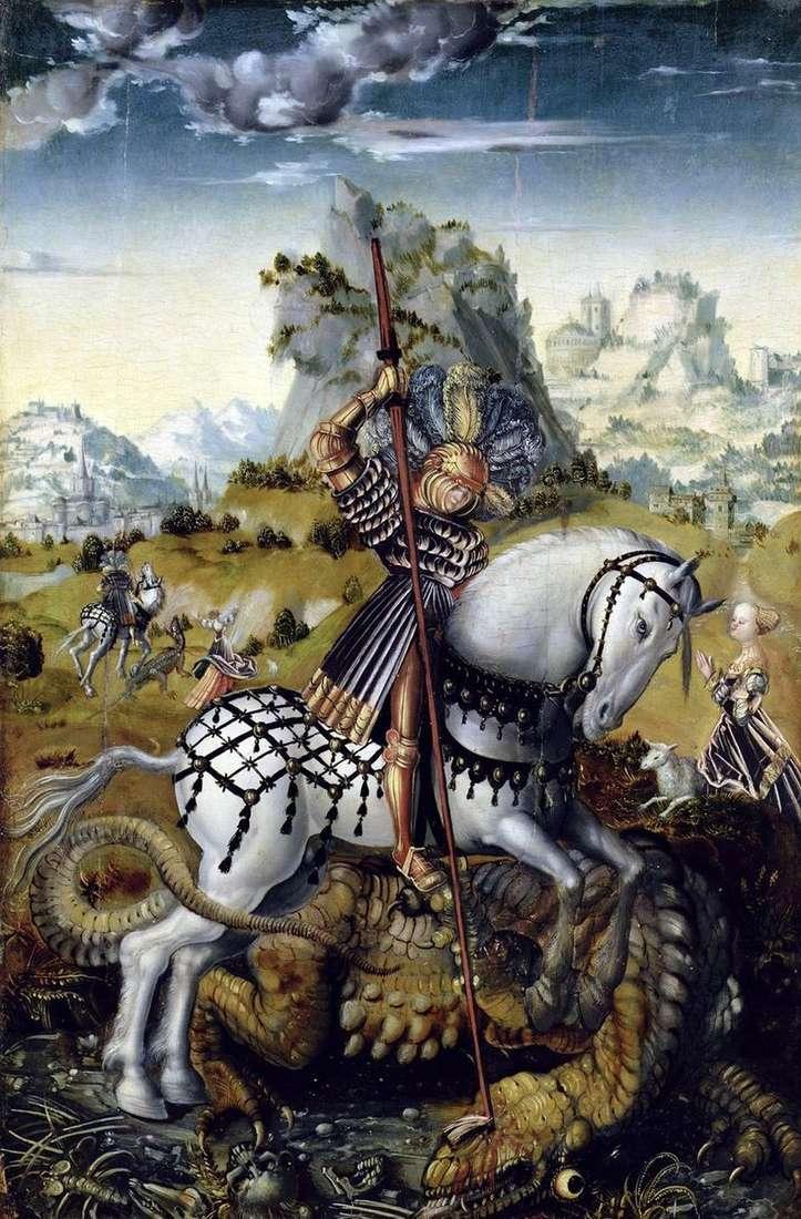 Święty Jerzy i smok   Lukas Cranach