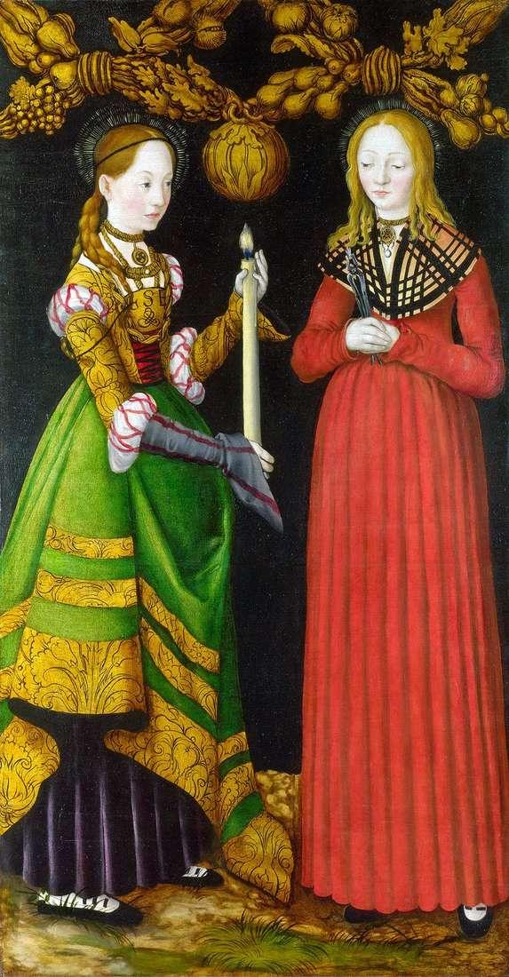 Saints Genevieve i Apollonia   Lukas Cranach