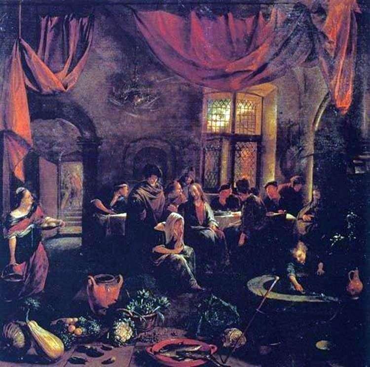 Chrystus w domu Marty i Marii   Jan Steen