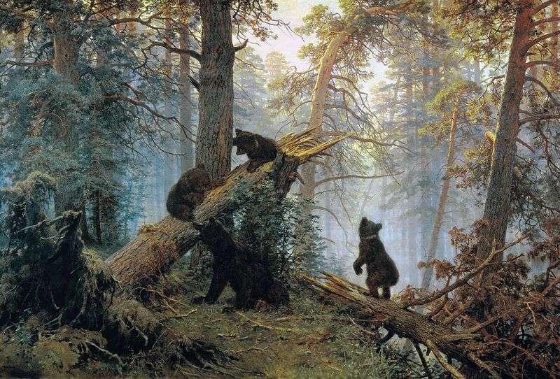 Rano w sosnowym lesie (Trzy Niedźwiedzie)   Iwan Szyszkin