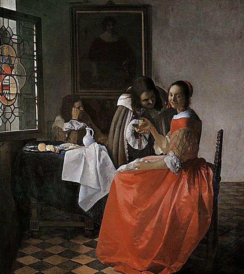 Pani i dwóch dżentelmenów   Jan Vermeer