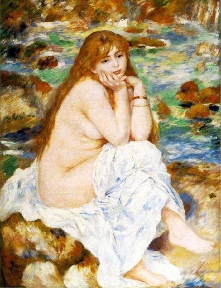 Siedzący kąpiący się   Pierre Auguste Renoir