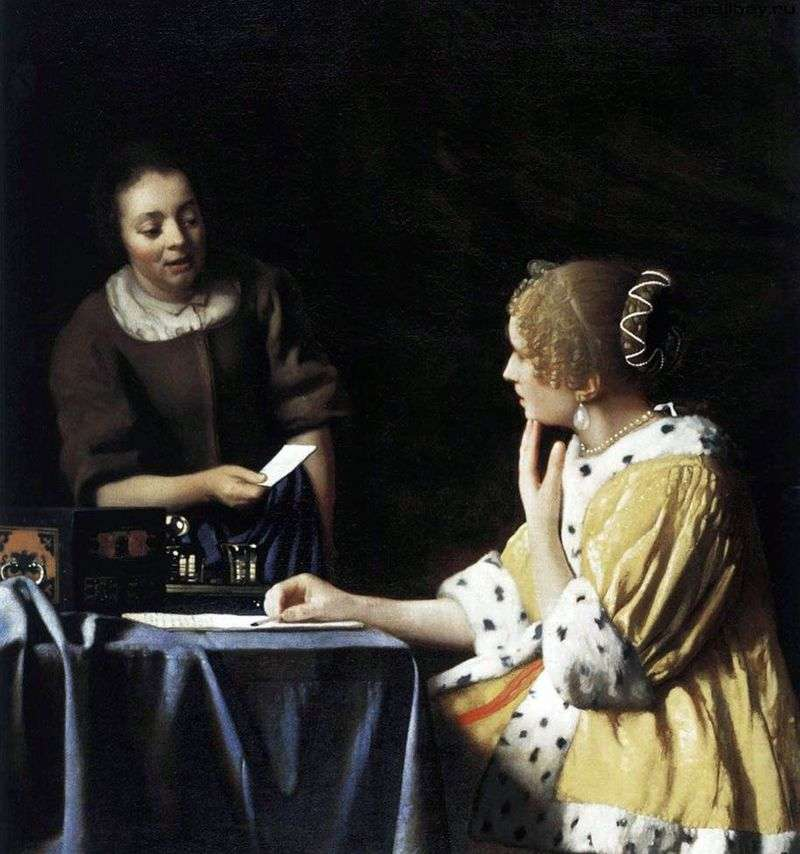 Pani i jej pokojówka z listem   Jan Vermeer