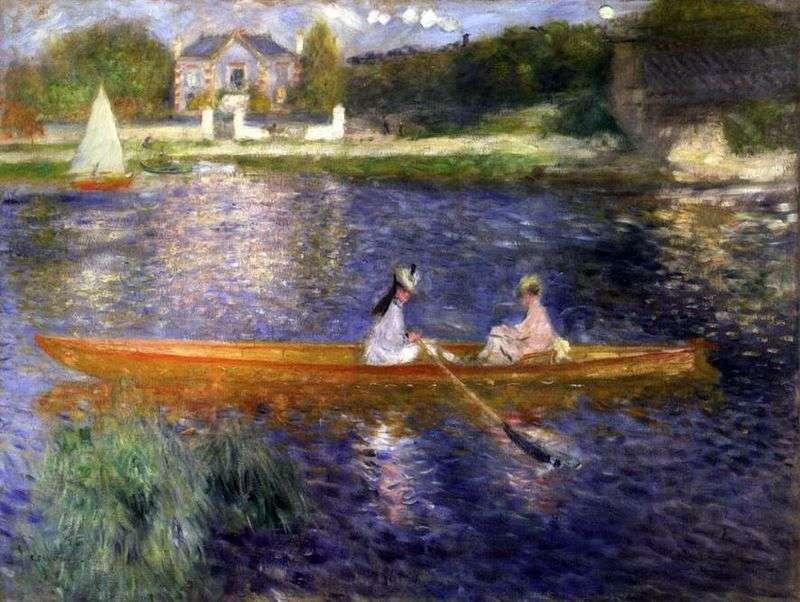 Skiff   Pierre Auguste Renoir