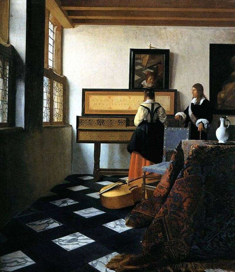 Lady of Virginia and Cavalier   Jan Vermeer