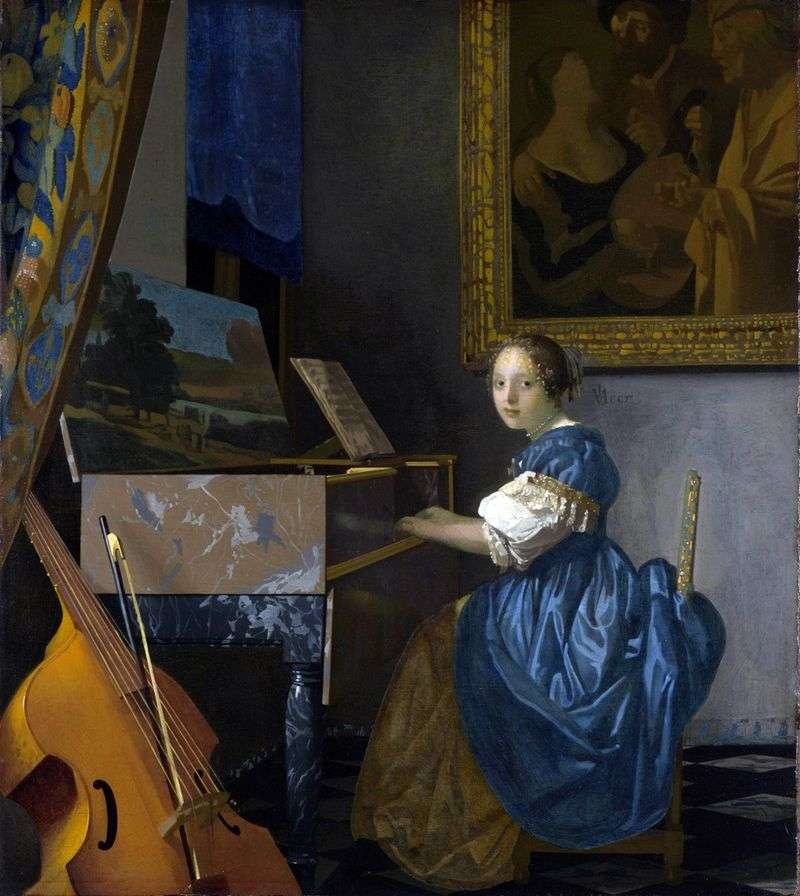 Lady at Spinet   Jan Vermeer
