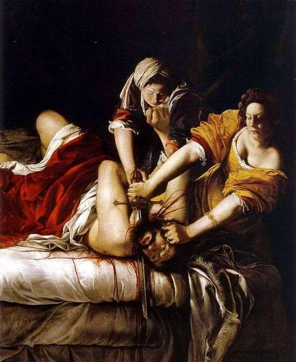Judyta odcina Holofernesa   Artemisia Gentileschi