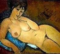 Akt na niebieskiej poduszce   Amedeo Modigliani