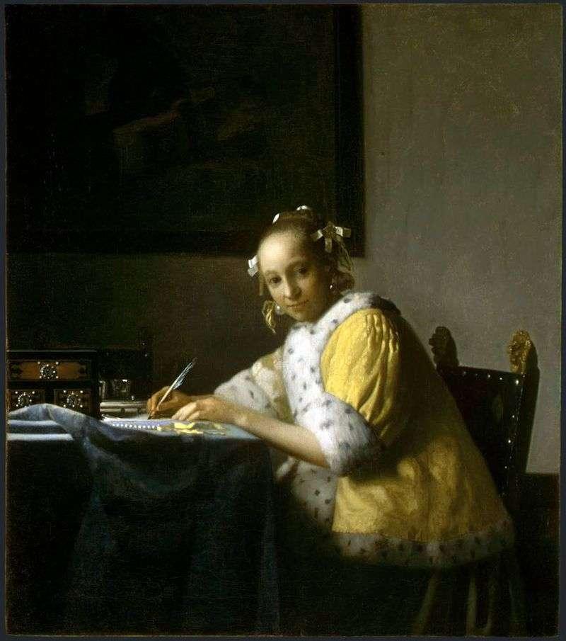 Dziewczyna pisze list   Jan Vermeer