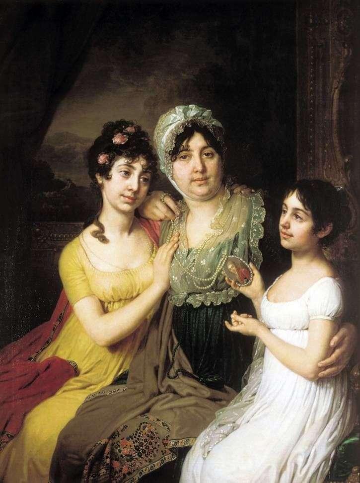 Portret A. I. Bezborodko z córkami   Vladimir Borovikovsky