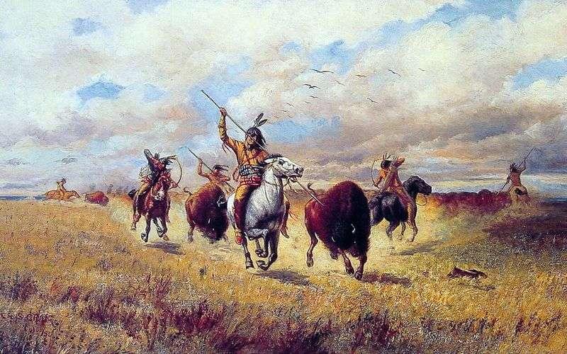 Bison Hunt   Charles Craig