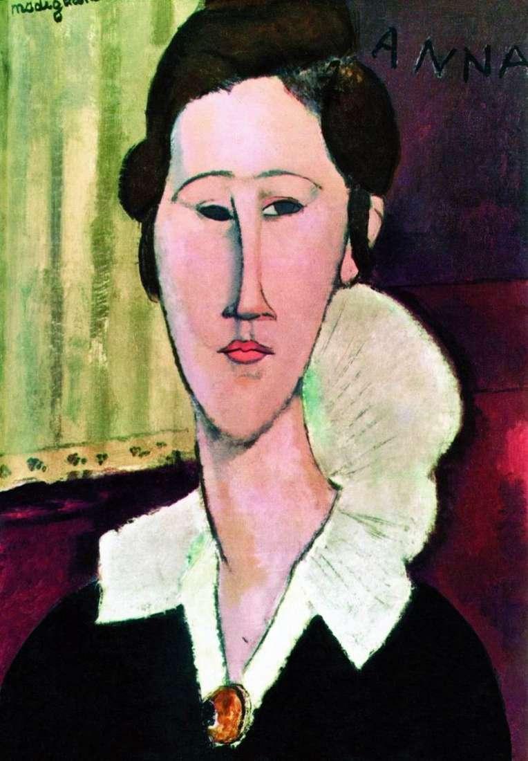 Portret Khanka Zborovskoy   Amadeo Modigliani