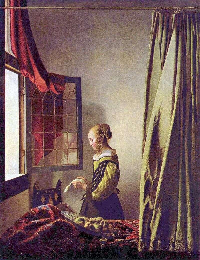 Dziewczyna czytająca list przy otwartym oknie   Jan Vermeer