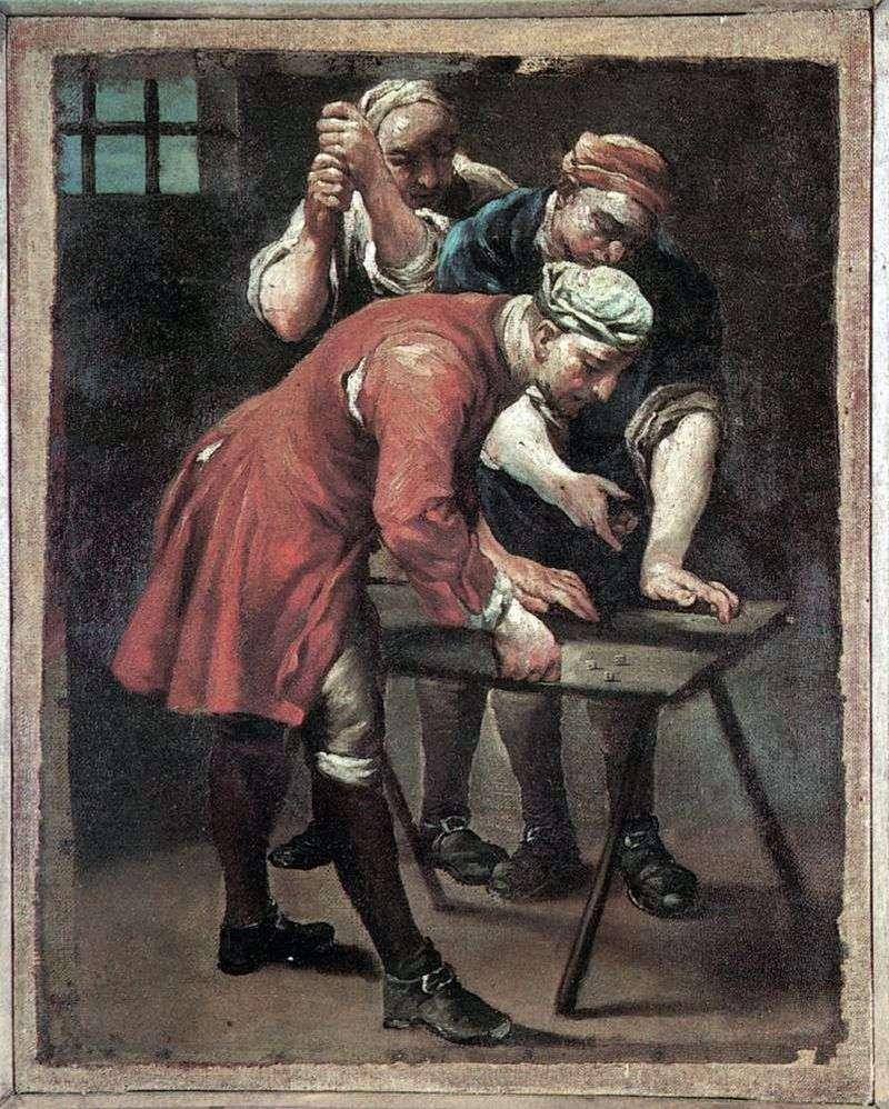 Gracze w kości   Giuseppe Maria Crespi