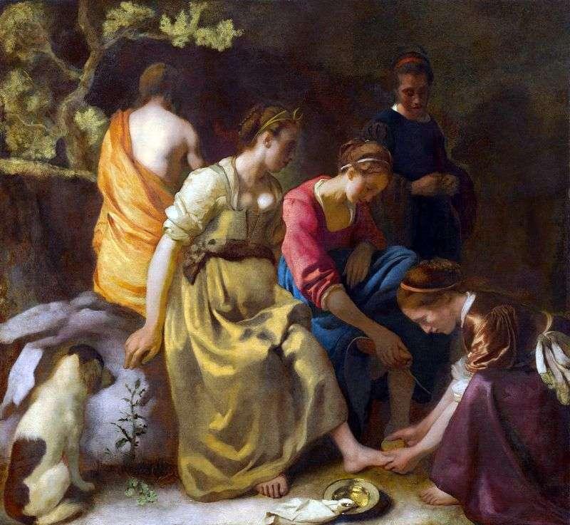 Diana i nimfy   Jan Vermeer