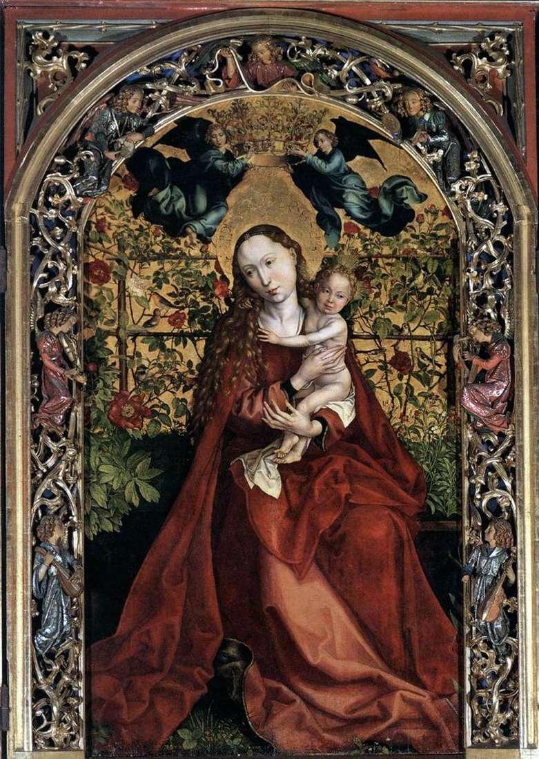 Madonna w altanie róż   Martin Schongauer