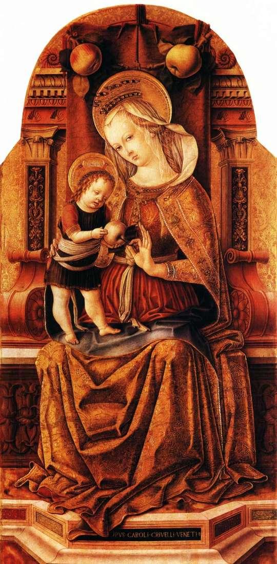 Maria z dzieckiem na tronie   Carlo Crivelli
