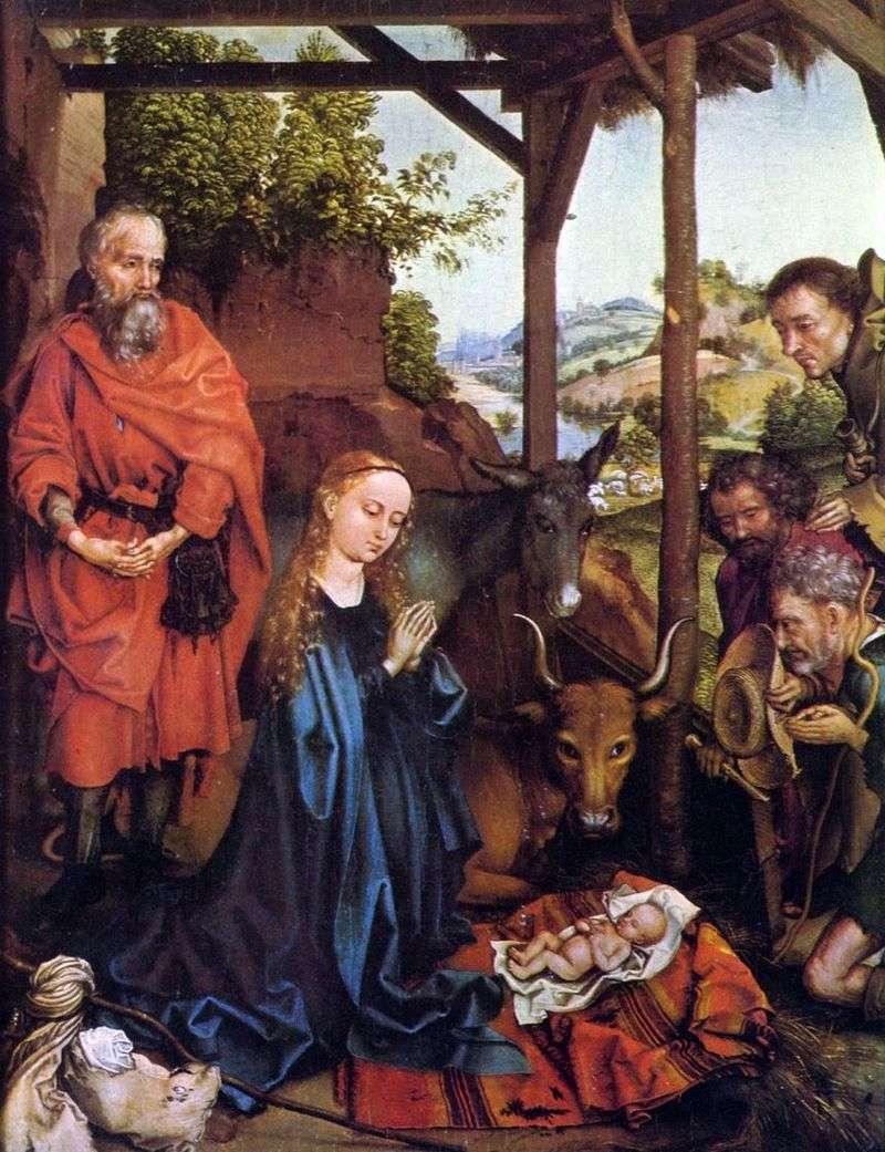 Adoracja pasterzy   Martin Schongauer