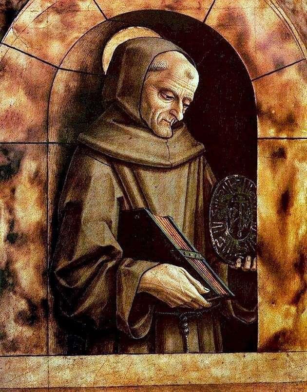 Saint Bernardin ze Sieny   Carlo Crivelli