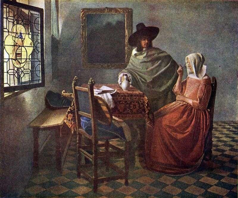 Cavalier leczy kobietę winem   Jan Vermeer