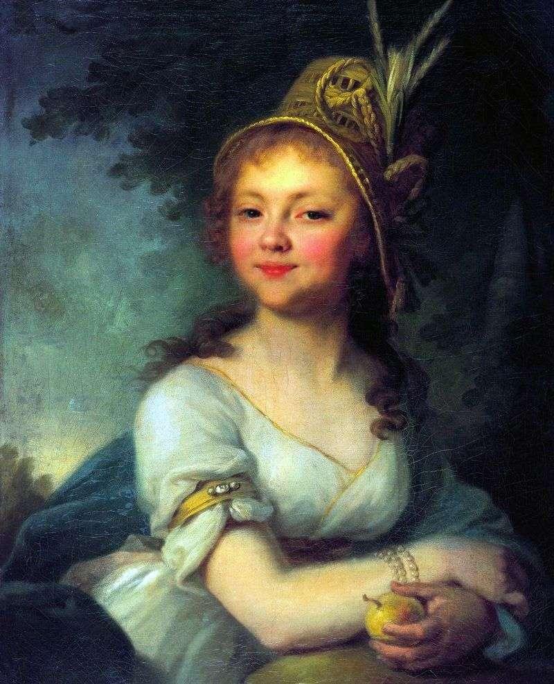 Portret E. Arsenyeva   Vladimir Borovikovsky