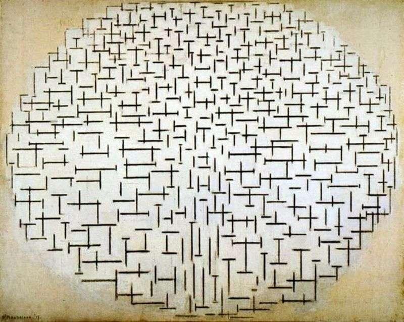 Falochron i ocean   Peter Cornelis Mondrian