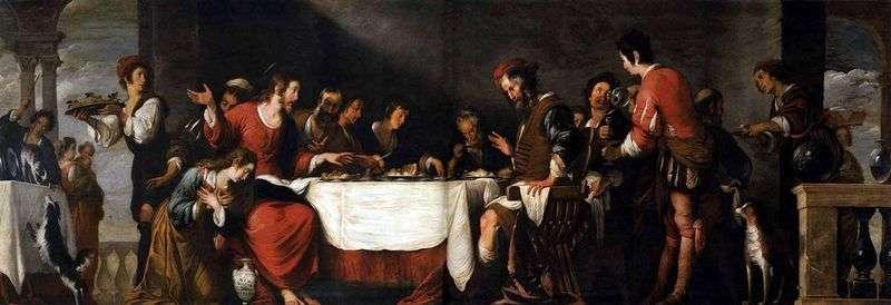 Uczta w domu Szymona   Bernardo Strozzi
