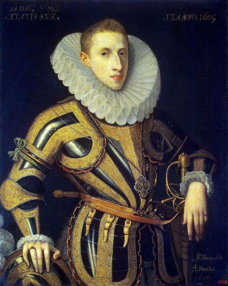 Portret Diego de Villamayor   Juan Pantoja de la Cruz