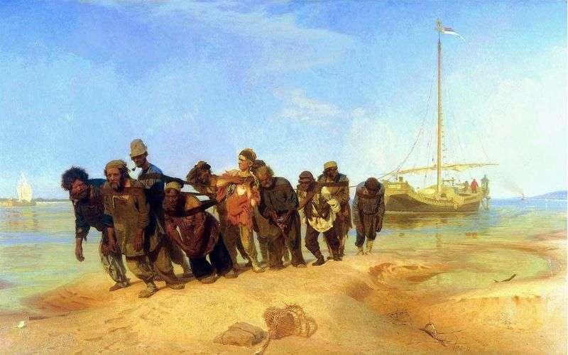 Barka wozów na Wołdze   Ilya Repin