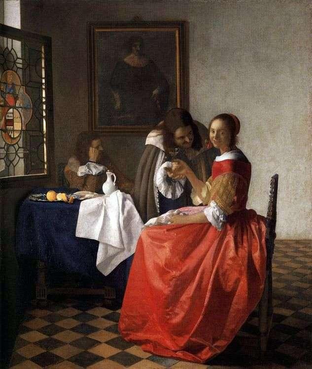 Pani i dwoje dżentelmenów   Jan Vermeer