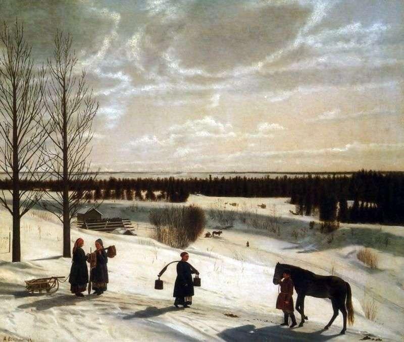 Zimowy krajobraz   Nikifor Krylov