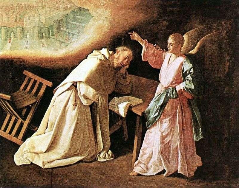 Wizja sv. Petra Nolasco   Francisco de Zurbaran
