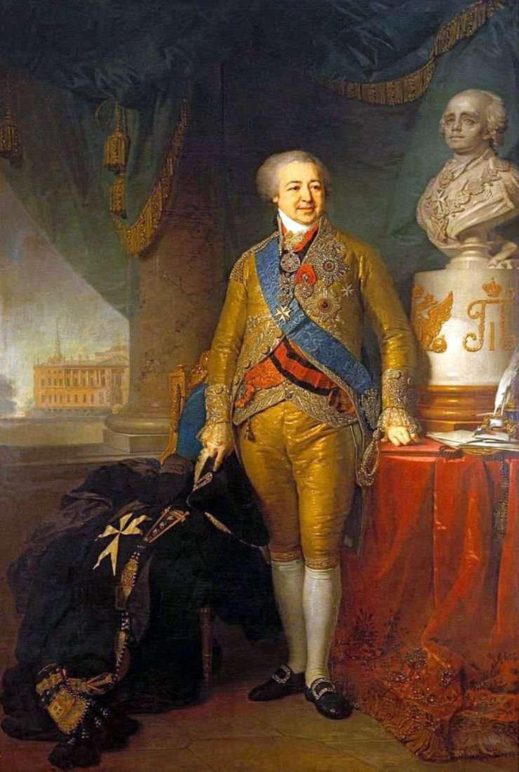 Portret księcia Aleksandra Borisowicza Kurakina   Władimira Borowiczowskiego
