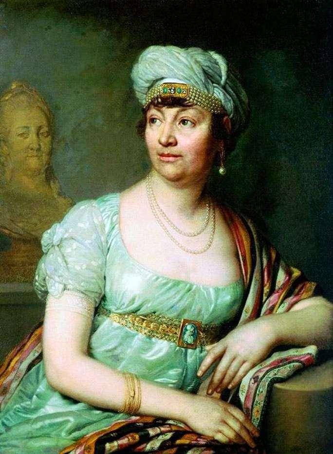 Portret Louise Germain de Stael   Vladimir Borovikovsky