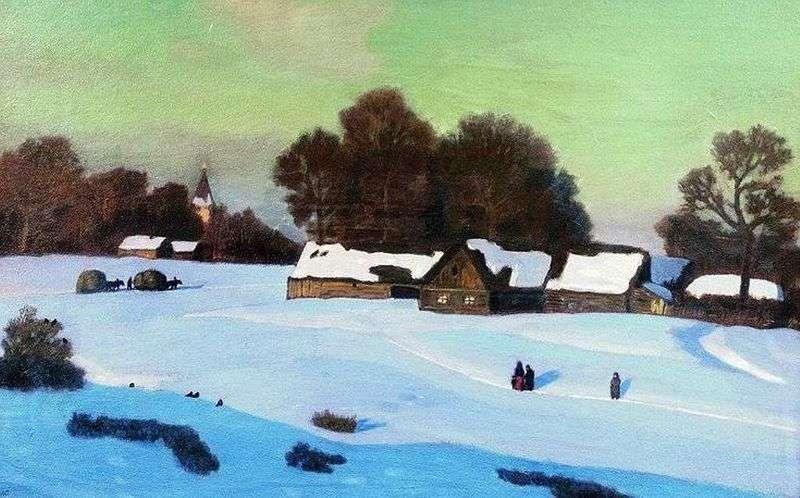 Zimowy wieczór   Nikolay Krymov