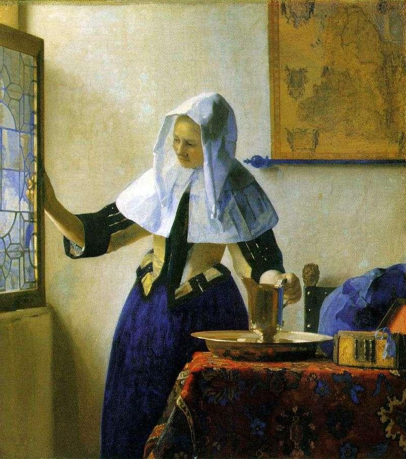 Młoda kobieta z dzbanem wody   Jan Vermeer