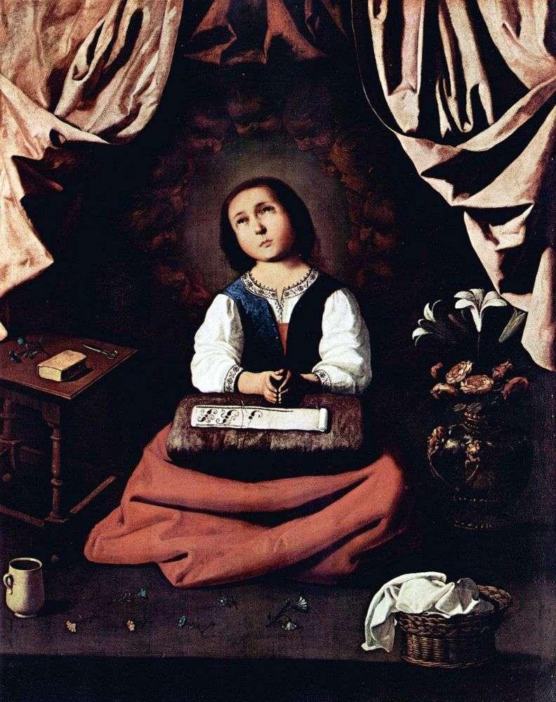 Madonna z dzieciństwa   Francisco de Zurbaran