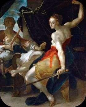 Alegoria sprawiedliwości   Bartholomeus Spranger