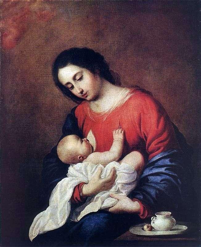 Madonna z Dzieciątkiem   Francisco de Zurbaran